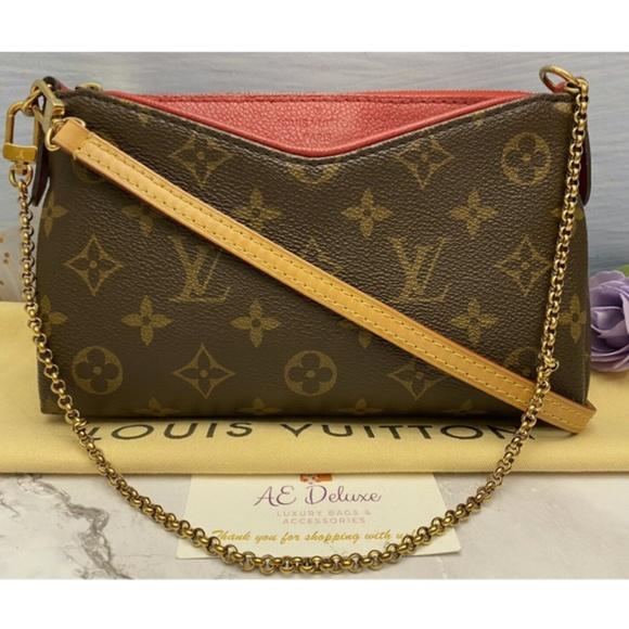 Louis Vuitton Handbags - Louis Vuitton Pallas Cerise Red Clutch (CA5106)